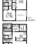 新潟市南区白根の新築住宅1号棟の間取図