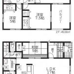 阿賀野市緑岡の新築住宅1号棟の間取図