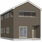 阿賀野市緑岡の新築住宅2号棟の外観完成予定パース