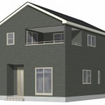 阿賀野市若葉町の新築住宅【2号棟】の外観完成予定パース