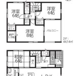 新発田市豊町2丁目【1号棟】の新築住宅の間取図