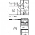 阿賀野市若葉町の新築住宅【1号棟】の間取図