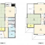 新潟市南区下木山の新築住宅の間取図