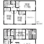 新発田市豊町2丁目【2号棟】の新築住宅の間取図