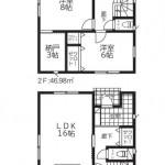 阿賀野市若葉町の新築住宅【2号棟】の間取図