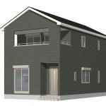 阿賀野市中島町の新築住宅の外観完成予定パース