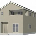 阿賀野市若葉町の新築住宅【1号棟】の外観完成予定パース