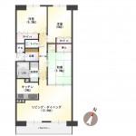 新潟市中央区南出来島2丁目のマンションの間取図