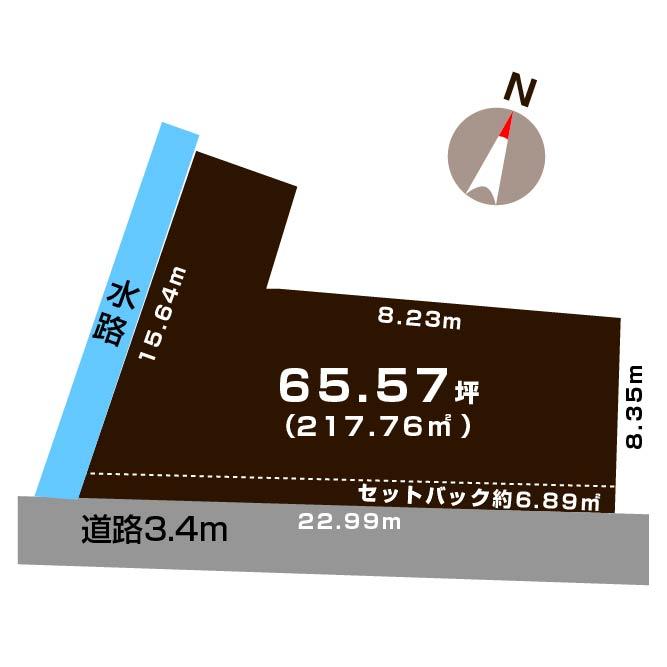 新発田市大栄町4丁目の土地の敷地図